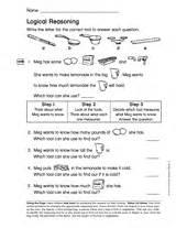 logical reasoning gr 1 word problems printable 1st