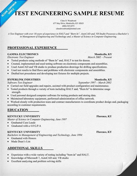Junior Test Engineer Sle Resume 54 Best Larry Paul Spradling Seo Resume Sles Images On