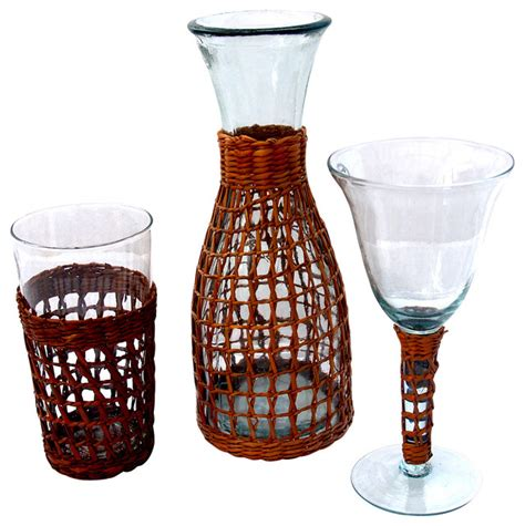 Outdoor Barware Set Bali Collection Glassware Set Tropical Outdoor