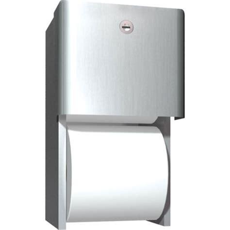 dual roll toilet tissue dispenser asi 9030 surface mounted dual roll toilet tissue dispenser