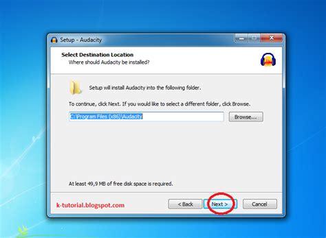 tutorial zahir versi 5 1 tutorial download audacity versi terbaru dan instal
