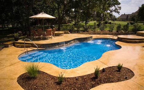 Pools Cground by Inground Fiberglass Swimming Pools Prices With Waterfall