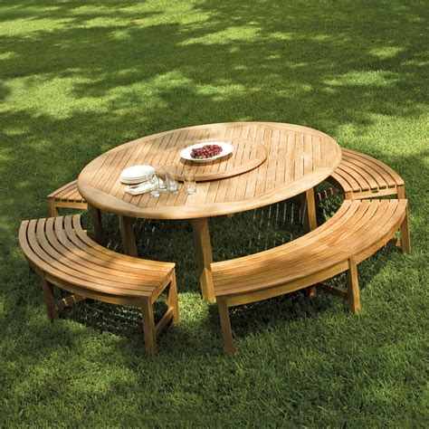 teak picnic table with benches round teak picnic table westminster teak outdoor furniture