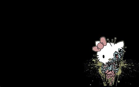 wallpaper hello kitty black hello kitty black background wallpapersafari