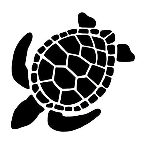 Sea Turtle Die Cut Vinyl Decal Pv993 Vinyl Pinterest Window Decal Template