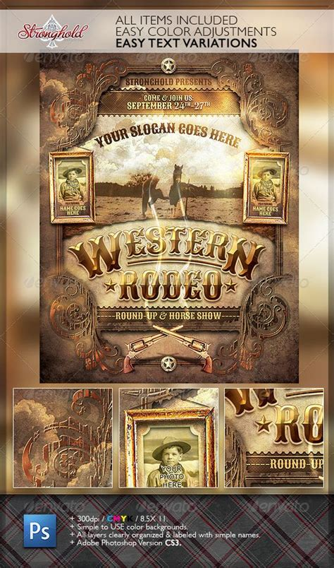 Rodeo Flyer Template Free