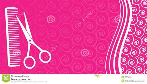 Cartão Para O Salão De Beleza De Cabelo Imagens de Stock