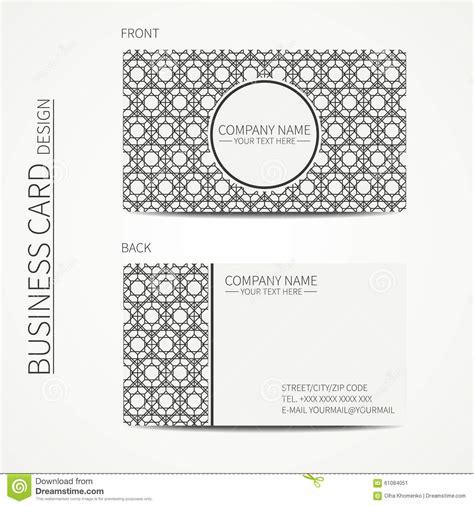lattice card template geometric lattice monochrome business card stock vector