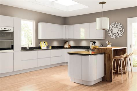 grey gloss kitchen cabinets kitchen wall cabinets lacarre gloss grey fitted kitchens