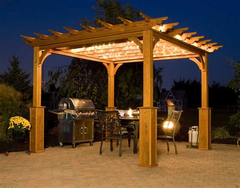 Inspiring Ideas For Patio Pergola Designs Exterior Pergola Lighting Pictures