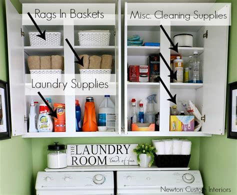 Organizing A Small Laundry Room Newton Custom Interiors Organizing Laundry Room Cabinets