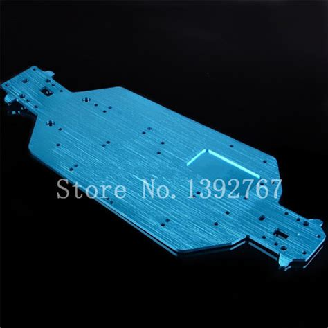 Titanium Color Alloy Chassis Upgrade Parts For Hsp Rc1 10 Road Car 04001 6061 metal chassis blue for 1 10 scale models rc car