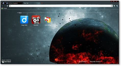 top themes for google chrome google chrome themes cosmic fringe space themes
