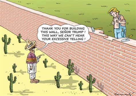 Donald Trumps House by Cartoons Donald Trump S Wall