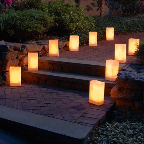 best outdoor luminaries paper bag luminaries weddings luminary lanterns candles