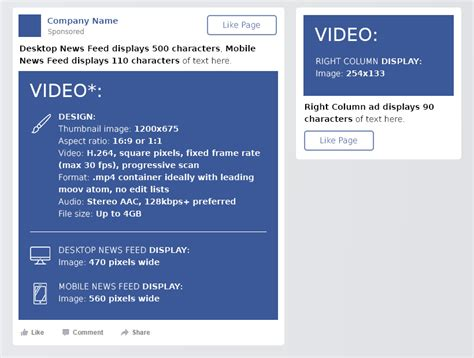 format video fb facebook cheat sheet all sizes and dimensions dreamgrow