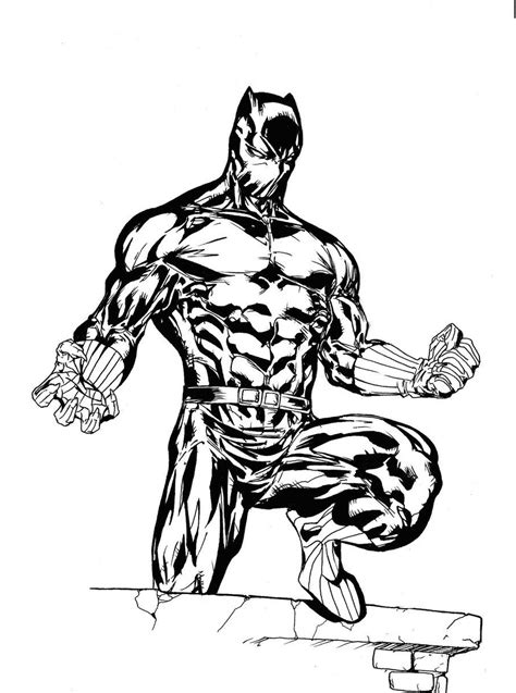 black panther marvel coloring pages