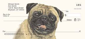 pug personal checks pug gifts by yuckles