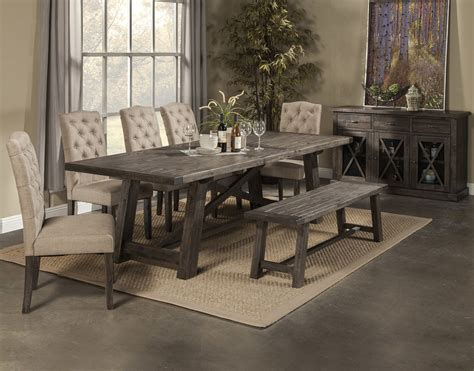grey dining room table with bench newberry dining table with 4 chairs bench
