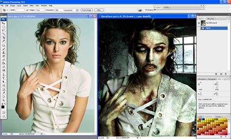 zombie tutorial using photoshop zombie fication worth1000 tutorials