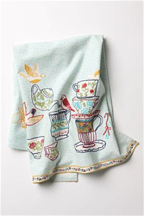 Kitchen Towels Anthropologie Embroidered Tea Towel From Anthropologie Embroidery
