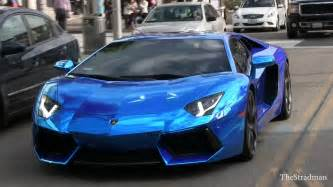 Lamborghini In Blue Salomondrin S Outrageous Chrome Blue Lamborghini