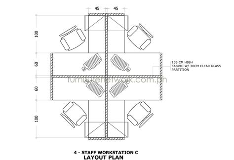 layout of work plan furniture network