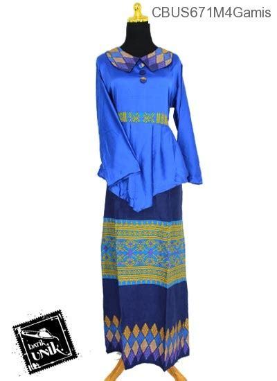 Baju Muslim Gamis Abaya Syar I Kerah Turtle baju batik sarimbit gamis motif songket tumpal gamis batik murah batikunik
