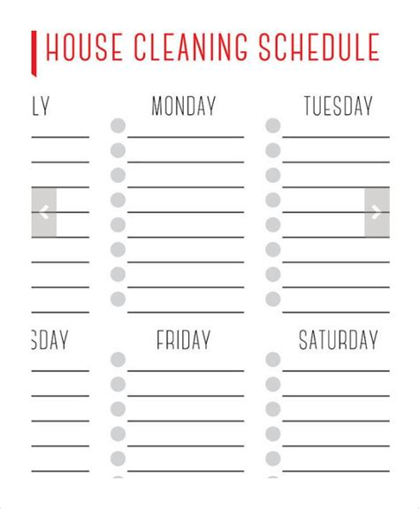 House Cleaning Schedule 16 Free Word Pdf Psd Documents Download Free Premium Templates Free Printable Cleaning Schedule Template