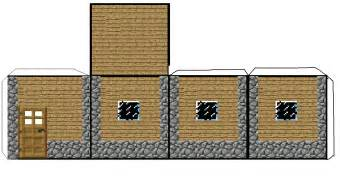 minecraft house templates papercraft mini minecraft npc smaller house