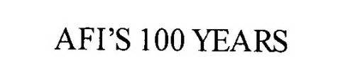 100 Free Email Search Afi S 100 Years Trademark Of American Institute Serial Number 76479752