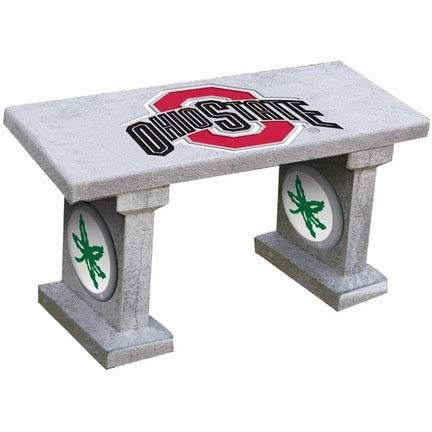 ohio state bench ohio state buckeyes full painted concrete bench