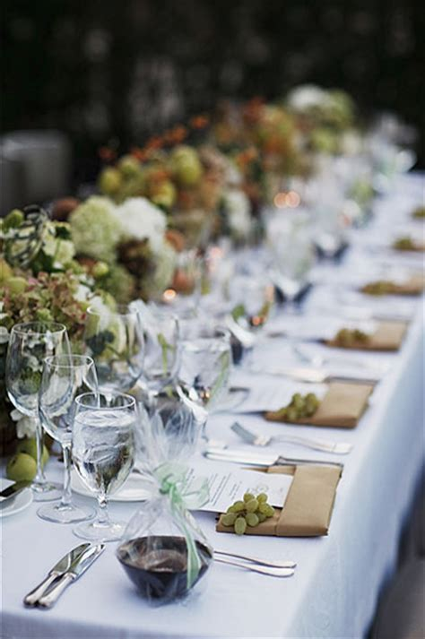 beautiful table settings green and brown rustic napa wine country wedding