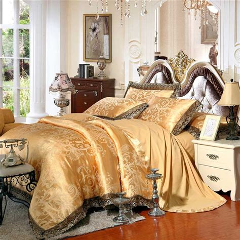 Gold Bed Set Get Cheap Gold Comforter Sets Aliexpress Alibaba