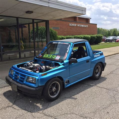 how does a cars engine work 1993 geo tracker electronic valve timing geo tracker with a twin turbo v8 engine swap depot