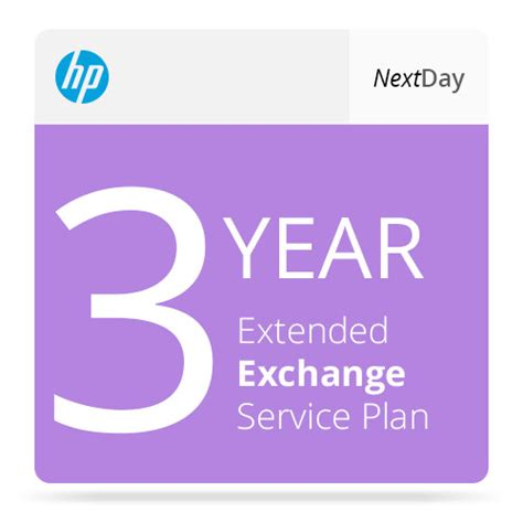 hp 3 year next day exchange extended service plan ug609a b h