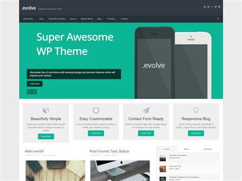 themes wordpress evolve th 232 mes wordpress gratuits la s 233 lection pour janvier 2016