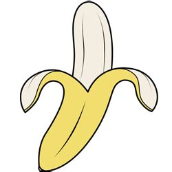 How To Draw Banana Banana Step By Step Drawing Lesson