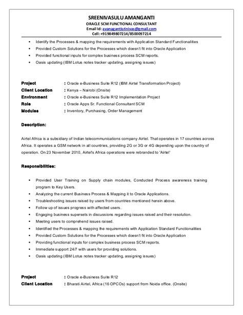 oracle scm functional consultant resume resume ideas