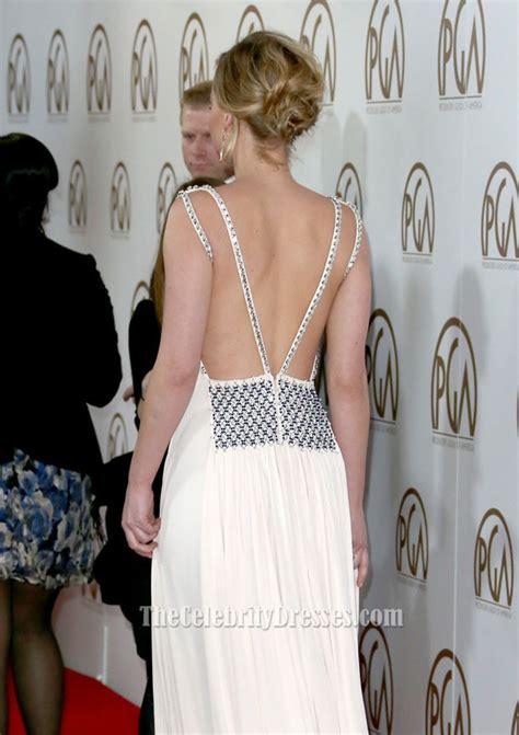 Jennifer Lawrence Sexy Evening Dress 2015 Producers Guild