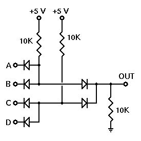 diode logic circuits exles two two input dl and or gate
