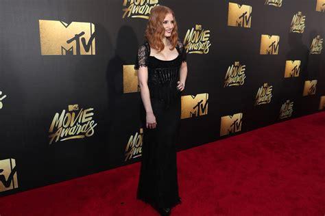 film awards red carpet 2016 jessica chastain photos photos 2016 mtv movie awards