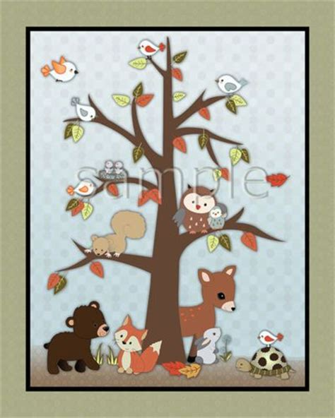Details About Forest Friends Woodland Animal Owl Fox Forest Friends Nursery Decor