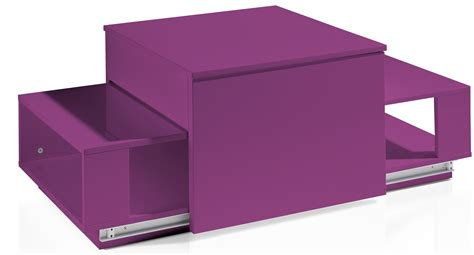 table basse relevable laqu 233 e fuchsia optima lestendances fr
