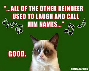 grumpy cat rudolph the red nosed reindeer angry cat dumpaday