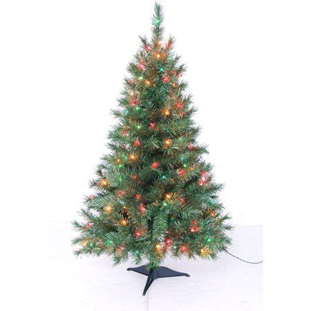 walmart in store artificial christmas trees time pre lit 4 indiana green artificial tree multicolor lights walmart