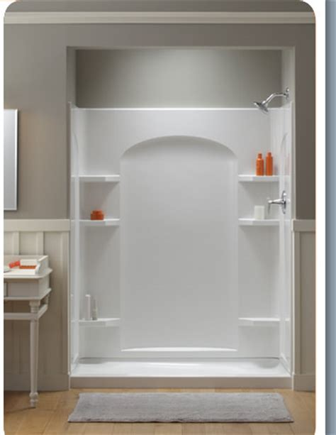 Kohler Sterling Shower by New Ensemble Shower Easily Replaces Bathtub
