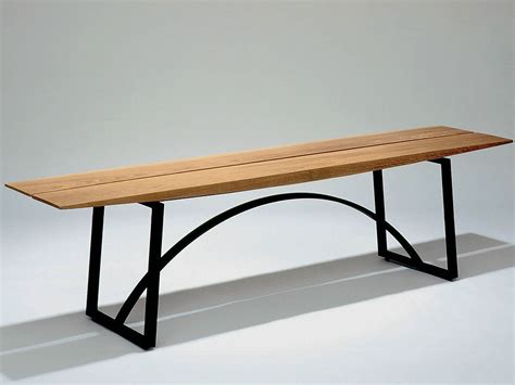 wood and steel bench steel and wood bench seating kwai by nola industrier