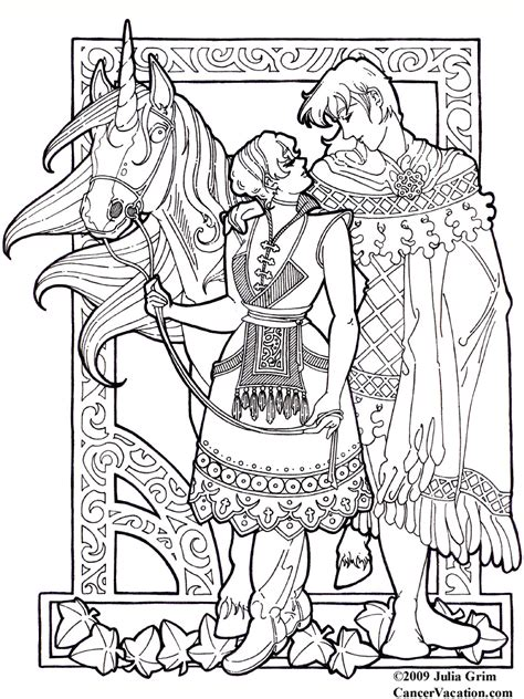 free coloring pages of fantasy art