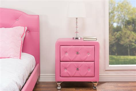 baxton studio stella crystal tufted modern bed with upholstered headboard baxton studiostella crystal tufted pink leather modern